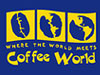 The logo of Coffee World